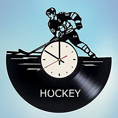 STP Cat Hockey Vinyl Wall Clock - Handmade Unique Artwork Home Bedroom Living Kids Room Nursery