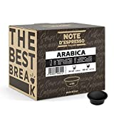 Note d'Espresso - Arabica - Cápsulas de Café para las Cafeteras Lavazza y A Modo Mio - 100 x 7 g