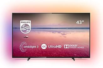 Televisor Philips Ambilight 43PUS6704/12 de 108 cm (43 pulgadas) con tecnologías led y Smart TV (4K UHD, HDR 10+, Dolby Vision, Dolby Atmos, Smart TV), color negro