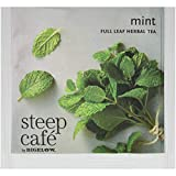 Steep Café Mint Herbal Tea, 50 Bags per Box, Single Source, Premium Whole Leaf Teas in a Sachet Pyramid Bag, Individually Wrapped in a Foil Pouch, Hot or Iced, by Bigelow Tea