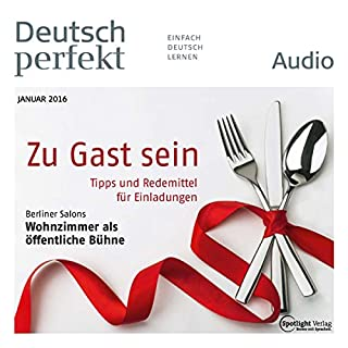 Deutsch perfekt Audio. 1/2016 Titelbild