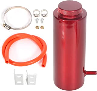 TUPARTS Aluminium Alloy Racing Engine Radiator Coolant Overflow Tank Reservoir w/Cooling Hose