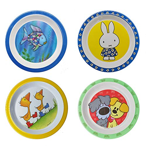 Melamine Dessert Plates - Appetizer Plates 8 Inch - Indoor or Outdoor Christmas Day Dinner Plates Set of 4Oyooysy Bread Butter Trays Hats Pumpkin Style Hard Plastic Dishes (godfish)