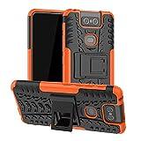 LFDZ ASUS Zenfone 6 ZS630KL Custodia, Resistente alle Cadute Armatura Robusta Custodia Shockproof Protective Case Cover per ASUS Zenfone 6 ZS630KL / Zenfone 6Z ZS630KL Smartphone,Arancione