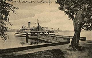 The Wharf Mount Vernon, Virginia Original Vintage Postcard