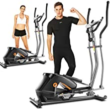 ANCHEER Elliptical Machine, APP Elliptical Machines LCD Monitor and 10-Level Resistance Smooth Driven for Home Use Max Weight Capacity 390LBS