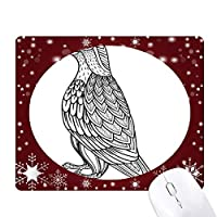 鳥のペイントフライングラインロング オフィス用雪ゴムマウスパッド