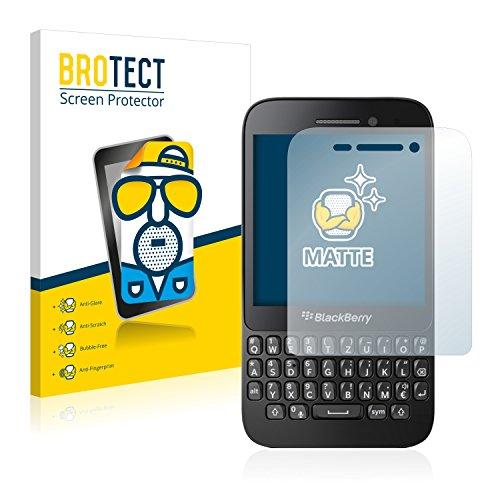 BROTECT 2X Entspiegelungs-Schutzfolie kompatibel mit BlackBerry Q5 Bildschirmschutz-Folie Matt, Anti-Reflex, Anti-Fingerprint