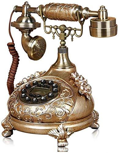 Sooiy Antiguo teléfono inalámbrico Rotary, Fijo Retro teléfono Retro Creativa hogar del teléfono inalámbrico Modo rotatorio de la Vendimia para la decoración casera 2020 de Almacenamiento