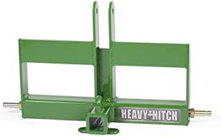 Category 1, 3 Point Hitch Receiver Drawbar with Offset Suitcase Weight Bracket - Green
