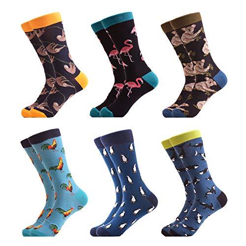 WeciBor Calcetines Hasta La Hombre Estampados Hombres Ocasionales Calcetines Divertidos Impresos de Algodón de Pintura Famosa de Arte Calcetines Calcetines de Colores de moda (ES067-02)