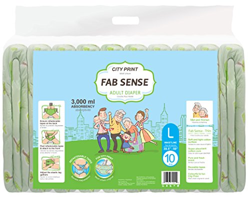 FAB SENSE City Print Adult Briefs (Medium)