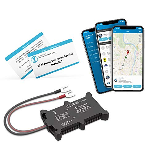 DrivePro.io Self-Install Waterproof Anti-Theft Realtime GPS Tracker Device for Van, Car, Scooter, Motorbike - 12 Month Service Included