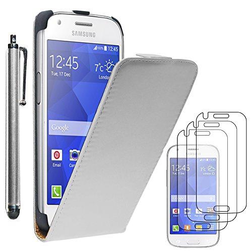 ebestStar - Funda Compatible con Samsung Ace 4 Galaxy SM-G357FZ Carcasa Ventana...