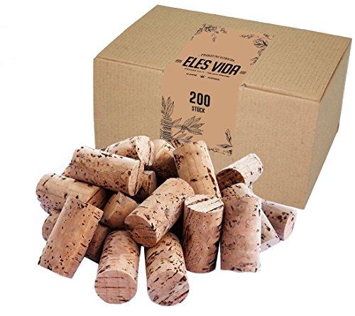 200 neue Weinkorken - Bastelkorken in Karton - Korken - Flaschenkorken auch zum verkorken von Flaschen, Dekorieren, DIY und Basteln - Kreative selber machen als Bastelzubehör in 24mm x 45mm Dunkel neu