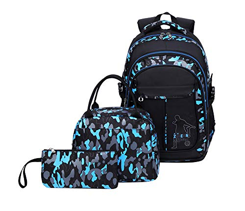 Tonlen School Backpack and Lunch Bag Set for Boys Heavy Duty Middle Elementary Children's Book Bag