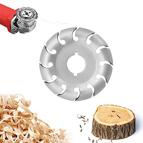 FIGFYOU Holzschnitzscheibe 90 mm 12 Zähne Schnitzscheibe Manganstahl Winkelschleifer Scheibe Winkelschleifscheibe Formscheibe für 100 115 Winkelschleifer Holzbearbeitung Elektrischer Winkelschleifer
