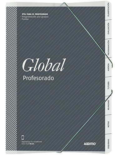 Additio P172 - Carpeta Global para el profesorado, colores aleatorios