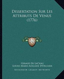 Dissertation Sur Les Attributs de Venus (1776)
