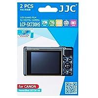 JJC LCP-SX730HS クリアLCDガード PETフィルムスクリーンプロテクター Canon Powershot SX730 HS用 低反射/汚れ防止/高透過率 2枚