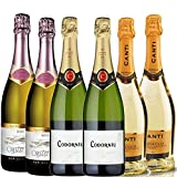 Gifts2Drink Sparkling Wine Case Gift Set with 2 Oyster Bay Cuvee Rose, 2 Canti Prosecco, 2 Codornu Clasico Brut Cava and Hand Crafted Gifts2Drink Tag NV