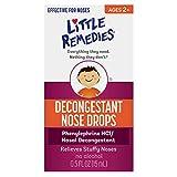 Little Remedies Decongestant Nose Drops | Ages 2-6 | 0.5 Fl. Oz (Pack of 4)