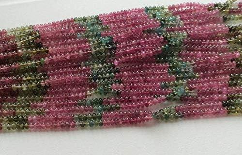 GEMS-WORLD trust Ultra-Cheap Deals Beads Gemstone 1 Strand Plai Natural Tourmaline Multi