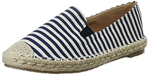 Allen Solly Women's Navy and White Espadrille Flats - India
