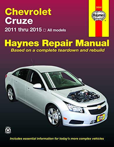Chevrolet Cruze 2011 Thru 2015 Haynes Repair Manual: 2011 Thru 2015 All Models