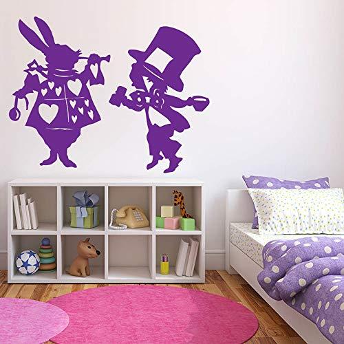 mlpnko Wonderland Wandaufkleber Kinderzimmer Home Decoration Kindheitserinnerungen Wandbild Vinyl Wandaufkleber 42X53cm