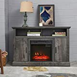 PatioFestival Electric Fireplace TV Stand Entertainment Center Corner Fire Place Heaters Tv Console with Generic Rustic Furniture for TVs up to 42' Wide, Rustic
