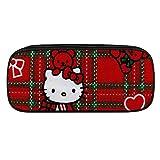Hello Kitty Love Hearts Federmäppchen Leder Reißverschluss Stifthalter für Büro Schule Zubehör Kosmetiktasche Daily Essentials