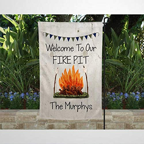 Kiss Cervical Fire Pit Garden Flag Double Sided 12x18 Personalized Campfire Yard Outdoor Decoration Banner for Patio Lawn Home Decor