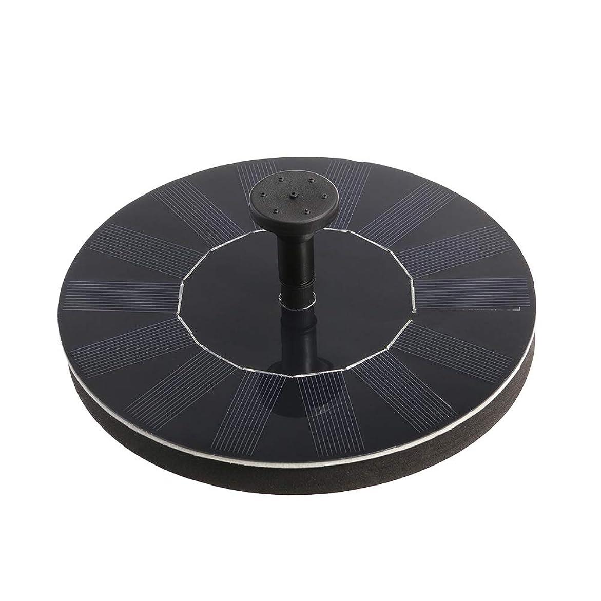桃対相手LIOOBO 1.4ワットソーラーパワーポンプバードバス噴水ポンプ1.4ワットソーラーウォーターポンプキット用バードバスウォーター(ブラック)