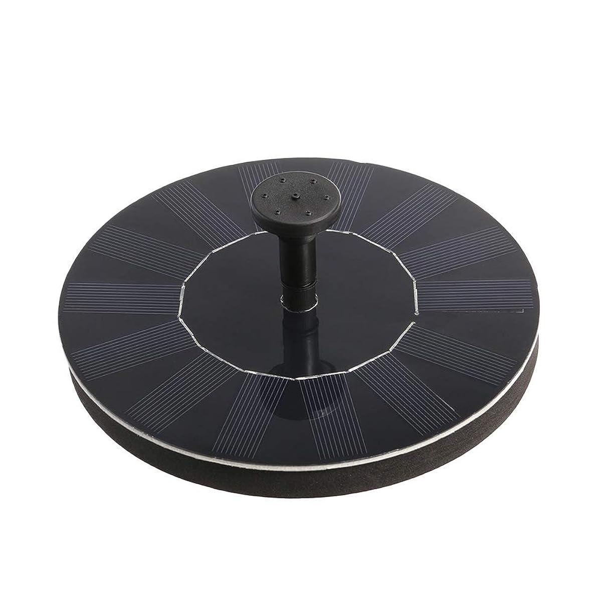 巨大な神話地域のLIOOBO 1.4ワットソーラーパワーポンプバードバス噴水ポンプ1.4ワットソーラーウォーターポンプキット用バードバスウォーター(ブラック)
