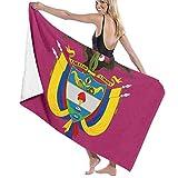 YHJUI Colombia Insignia Buitre Bandera Toalla de Playa Personalidad Piscina Toalla de baño de Agua de Gran tamaño 31.5 'X 51.2'