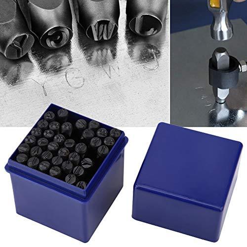 36 Stks/Set 5mm Staal Alfabet Letter & Nummer Stempel Punch Die Tool Kit met Opbergdoos