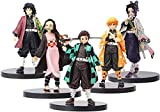 5PCS Anime Figure - Demon Slayer Kimetsu No Yaiba Japanese Action Figures Cute Kamado Nezuko Statues Figurine Car Dashboard Home Office Decoration Ornaments Anime Collectible Model Toy Gifts, 16cm