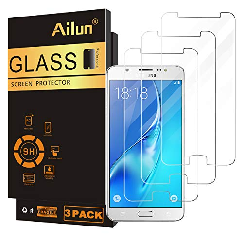 Ailun Screen Protector Compatible for Galaxy J7 2018 3Pack Tempered Glass Compatible with Samsung Galaxy J7 J7 Star 2018 J7 V 2nd Gen 2018 J7 Top 2018 J7 Aura 2018 J7 Crown 2018 Case Friendly