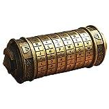 ギフトボックス ロックボックス キーボックス 指輪ケース レトロ 精密 円筒形 結婚指輪 防犯収納 ダヴィンチコード バレンタインデー 誕生日 プレゼント
