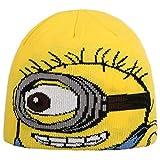 Minions Kindermütze Beanie Strickmütze Kinderbeanie Wintermütze (One Size - gelb)