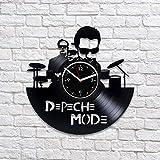 Depeche Mode Reloj De Pared con Disco De Vinilo Dave Gahan Art Disfruta del Arte del Silencio