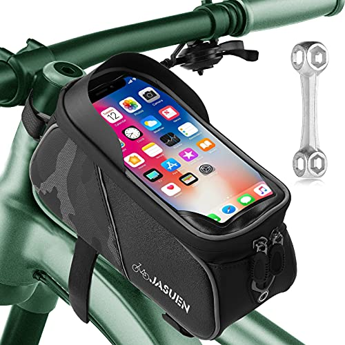 Bike Frame Bag - Large Universal Bicycle Waterproof Pouch/Phone Touch...