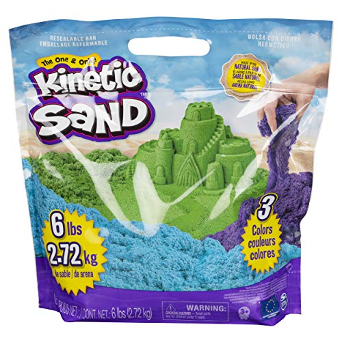 Kinetic Sand 6055453 - 2,7 kg original Kinetic Sand in 3 Farben