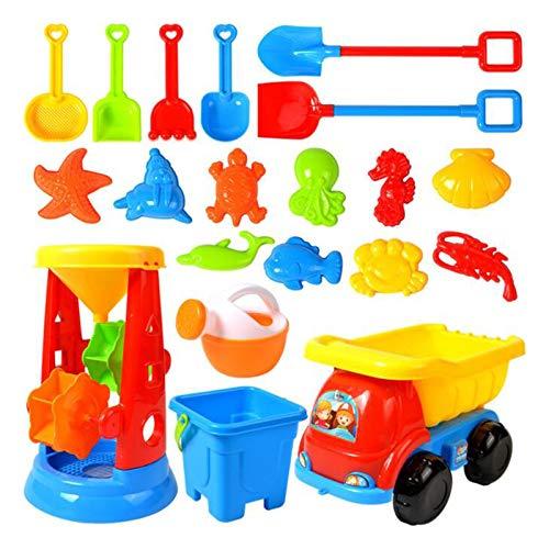nopinpai Sandspielzeug Kinder Spielzeug Strandspielzeug Set Sandspielset Wasserspielzeug Kinderspielzeug Sommer Badespielzeug Sandkasten Lernspielzeug Geschenkset für Strand, Spielplat