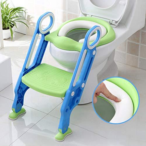 DONG Hilfstoilettensitz Toilettentraining Klappsitz Kinder Toilette Toilette,Blau