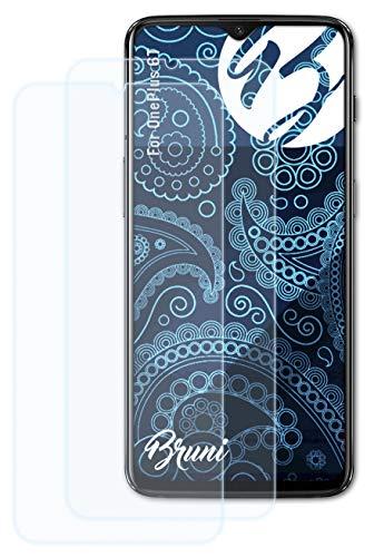 Bruni Schutzfolie kompatibel mit OnePlus 6T Folie, glasklare Bildschirmschutzfolie (2X)
