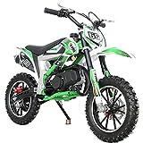 2021 Version X-PRO 50cc Dirt Bike Gas Dirt Bike Dirt Bikes Pit Bikes Youth Dirt Pitbike (Green)
