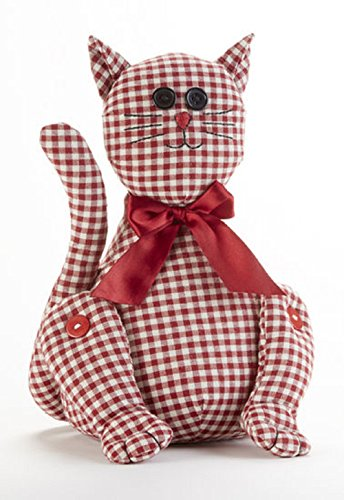 Delton Products Sitting Cat Door 10.5 Inches Stop Stuffed Animals Red