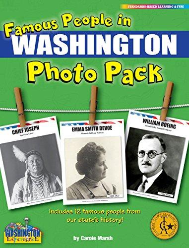 Famous People from Washington Photo Pack (12) (Washington Experience)